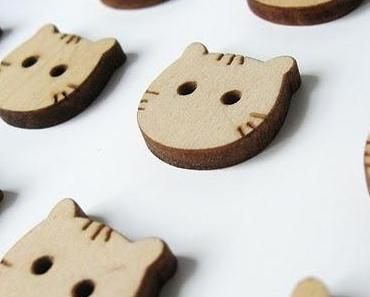 Des boutons de bois naturel inspirés de la nature....