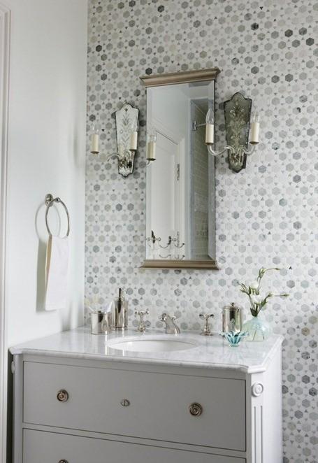 25 id es d co pour une jolie salle de bain - Papier peint salle de bain zen ...