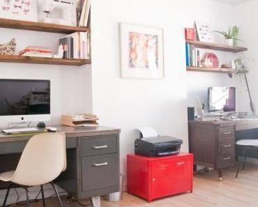 Avant / Après : un bureau vintage pour deux !