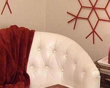 { DIY } Idée déco de Noël : des flocons de neige géants !