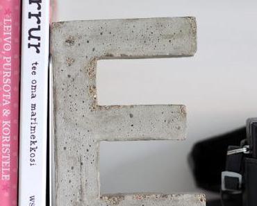 { DIY } 3 idées déco pour de jolies lettres en béton…