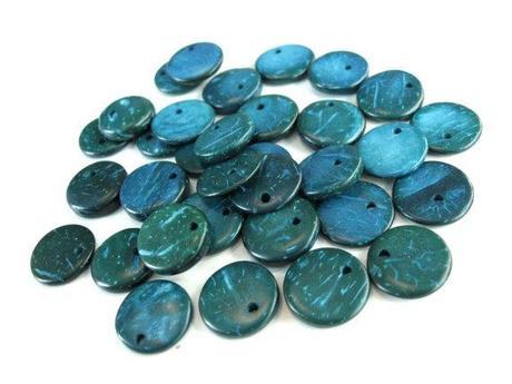 perles en bois de coco nouveaut s color es pour la confection de bijoux. Black Bedroom Furniture Sets. Home Design Ideas