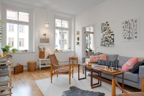 Inspiration d co un appartement scandinave tr s f minin for Inspiration appartement