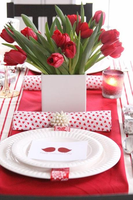 D coration de la table pour la st valentin - Decoration st valentin ...