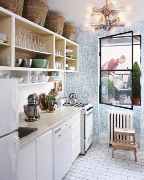 pour ou contre le papier peint dans la cuisine. Black Bedroom Furniture Sets. Home Design Ideas