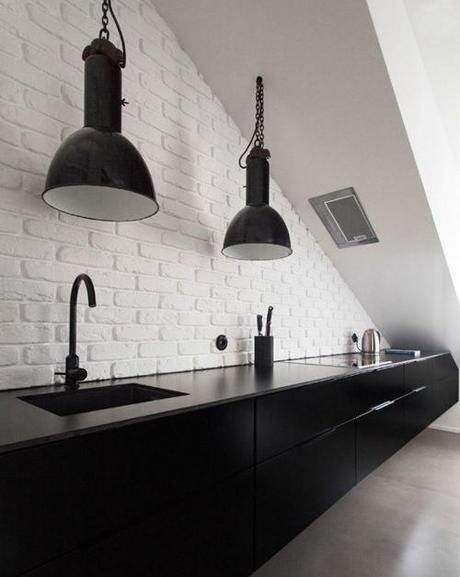 Cuisine en brique cuisine brique grise orleans une soufflant copyright cuisine mur de brique - Deco keuken grise ...