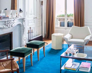Un mix de luxe, élégance, couleurs et bonnes idées dans un appartement parisien.