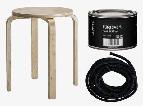 diy r aliser une balan oire avec un tabouret ikea. Black Bedroom Furniture Sets. Home Design Ideas
