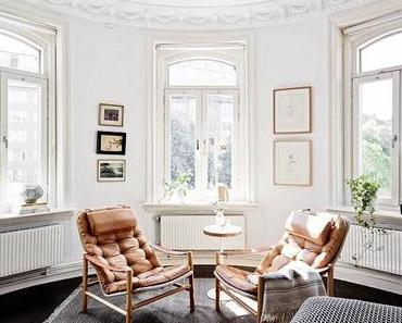 //Inspiration déco// Un appartement suédois en noir et blanc