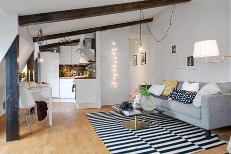 appartement scandinave sous les toits 4 - Salle De Bain Scandinave Chic