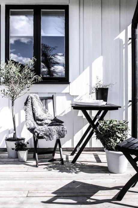 Westin Terrasse Scandinave : 30 id u00e9es d u00e9co pour une terrasse scandinave en noir et blanc