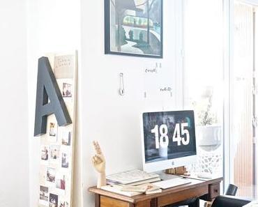 Chez moi // Mon coin bureau et des idées pour intégrer un espace de travail dans le séjour