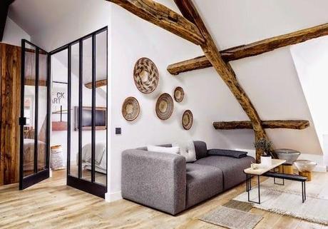 paris l 39 appartement de 40 m d 39 un jeune couple de designers. Black Bedroom Furniture Sets. Home Design Ideas