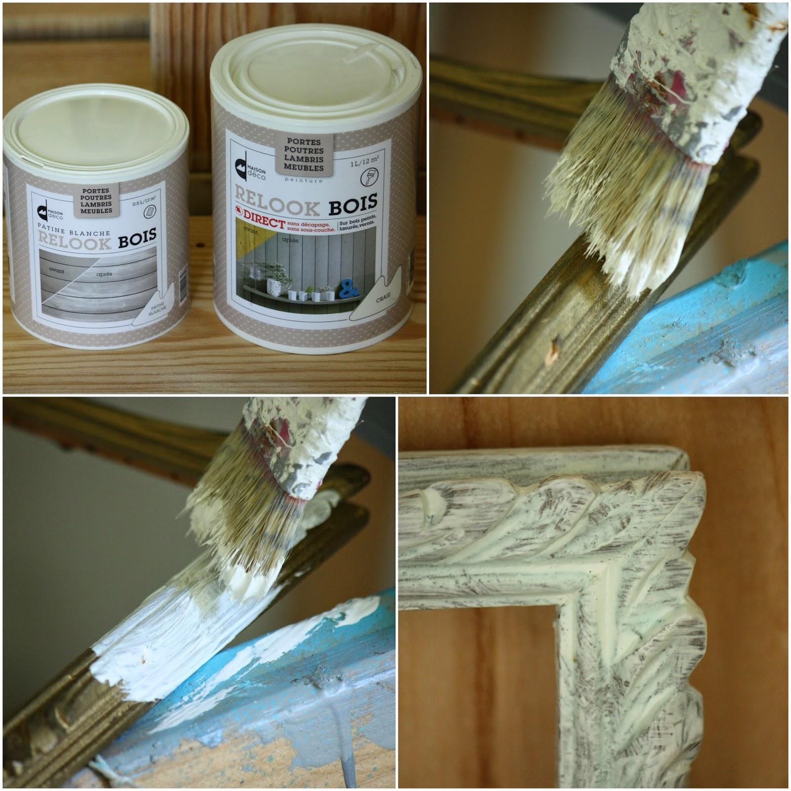 relooking d 39 un cadre ancien avec les peintures maison d co. Black Bedroom Furniture Sets. Home Design Ideas