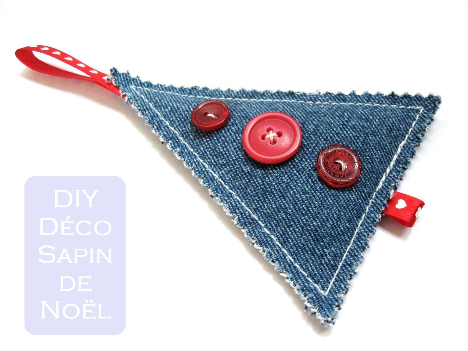 D coration pour le sapin en jeans recycl patron de couture gratuit - Blog couture deco maison ...