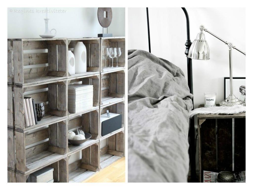 qui n a jamais r v de caisses de bois dans sa d co. Black Bedroom Furniture Sets. Home Design Ideas