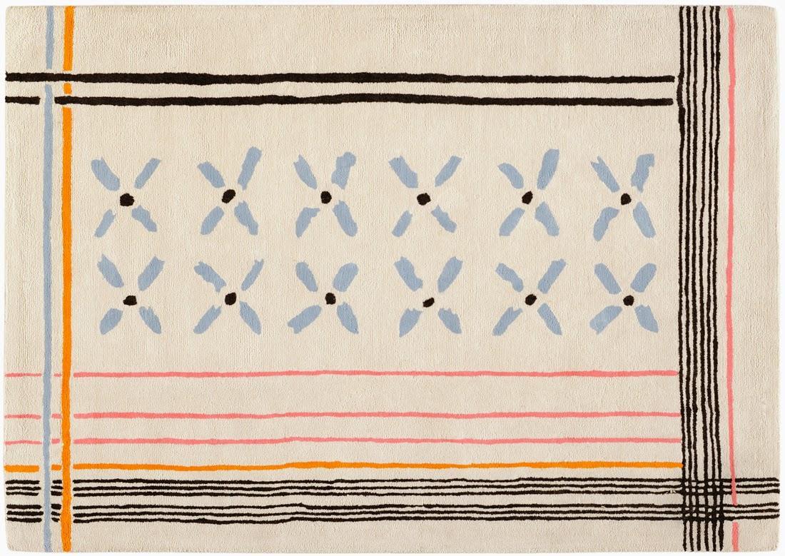 Collection de tapis par Inès de La Fressange chez Toulemonde Bochart /