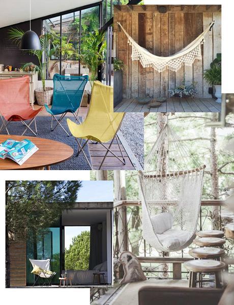mode d emploi pour une terrasse boh me. Black Bedroom Furniture Sets. Home Design Ideas