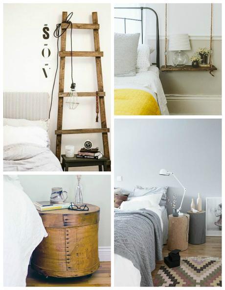 tables de chevet version r cup. Black Bedroom Furniture Sets. Home Design Ideas