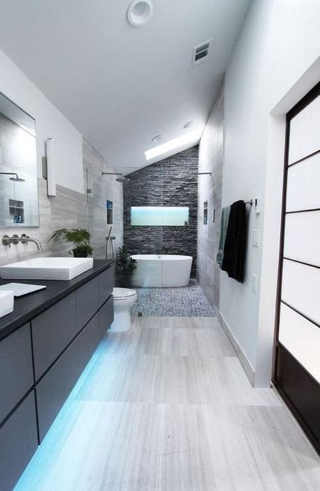 Id es d co pour une salle de bain moderne et contemporaine for Wet area bathroom ideas