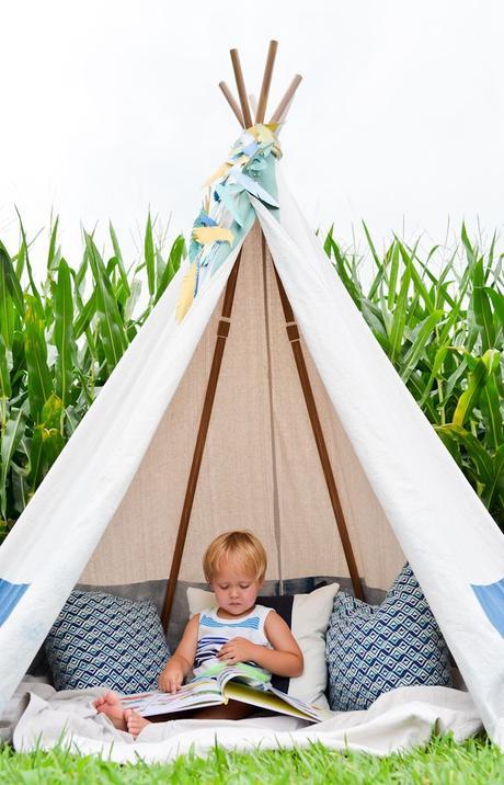un tipi pour une chambre d enfant. Black Bedroom Furniture Sets. Home Design Ideas