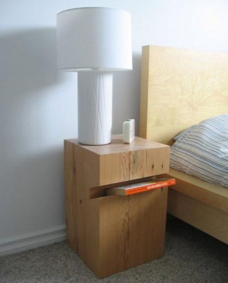 15 tables de nuit diy faciles fabriquer for Table de chevet fait maison