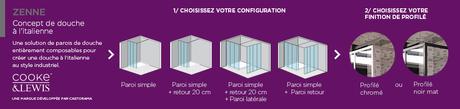 crush une paroi de douche modulable au look industriel. Black Bedroom Furniture Sets. Home Design Ideas