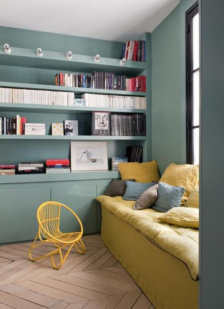 inspiration couleur vert de gris et jaune moutarde. Black Bedroom Furniture Sets. Home Design Ideas