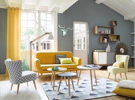 le jaune lectrise la d co. Black Bedroom Furniture Sets. Home Design Ideas