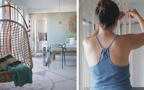 diy j ai r alis un rideau en macram chez moi tuto inside. Black Bedroom Furniture Sets. Home Design Ideas