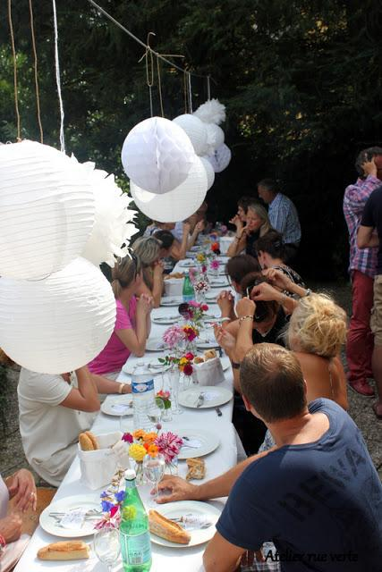 D co de table petit repas entre amis pour mon for Petit repas entre amis