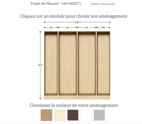crush un dressing sur mesure pour la rentr e. Black Bedroom Furniture Sets. Home Design Ideas