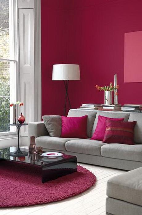 décoration maison rose