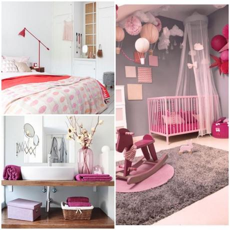D co rose bonbon inspiration et id es de d coration for Decoration chambre gris et fushia