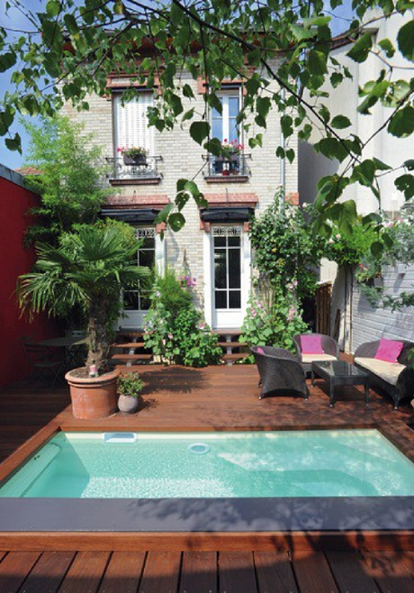 Cet hiver on profite de son jardin gr ce aux piscines caron - Piscine petit jardin ...