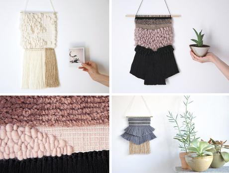 o trouver un joli tissage mural. Black Bedroom Furniture Sets. Home Design Ideas