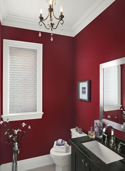 J ai os peindre un mur de mon salon de couleur et vous - Peindre un mur en rouge ...