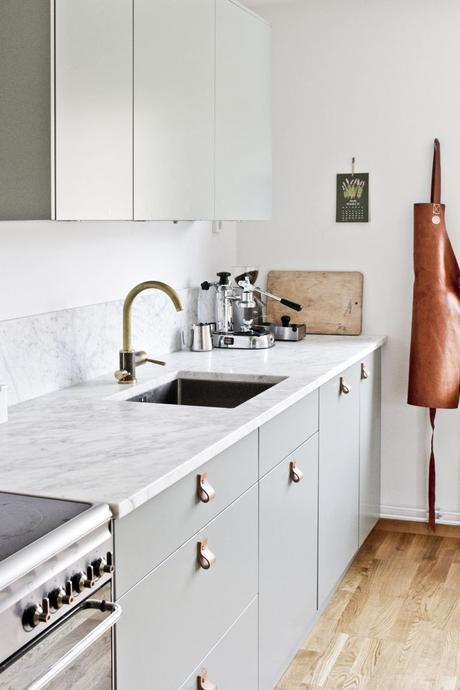Credence cuisine effet marbre - Design de cuisine