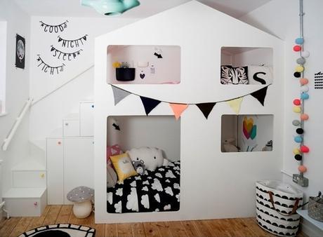 les objets d co en forme de maison envahissent les chambres d enfant. Black Bedroom Furniture Sets. Home Design Ideas