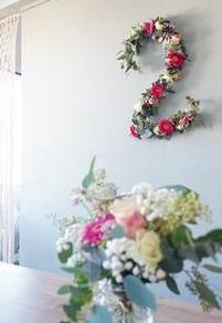 Un chiffre fleuri