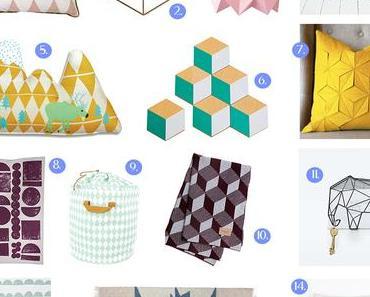 Une shopping list géométrique