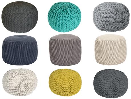 pouf tricot tuto diy et o en acheter un tout pr t. Black Bedroom Furniture Sets. Home Design Ideas