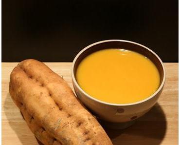 Soupe Veloutée aux Patates Douces, Carottes et Lait de Coco