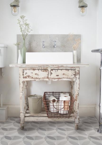 Id e r cup meubles anciens d tourner en lavabo - Salle de bain style shabby ...