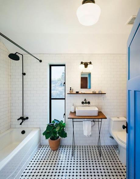 15 inspirations pour une salle de bain en noir et blanc - Salle de bain moderne noir et blanc ...
