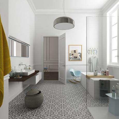 15 inspirations pour une salle de bain en noir et blanc for Salle de bain noir et blanc