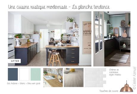 Coaching d co une cuisine rustique relook e for Cuisine blanche traditionnelle