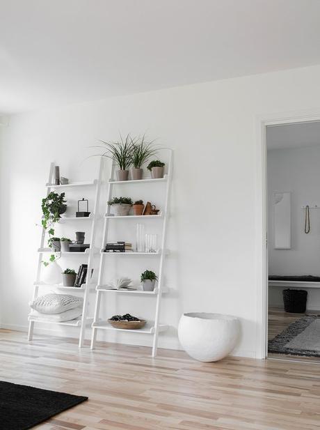 parquet ou sol peint en blanc