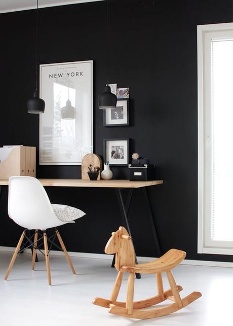 Parquet ou sol peint en blanc - Parquet peint en noir ...