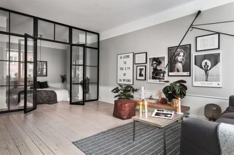 une chambre avec verrière /